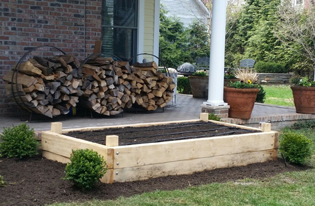frame for an organic Yard 2 Kitchen garden